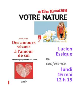 Conférence dédicaces salon Vivez Nature